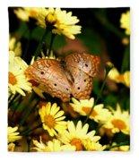 White Peacock Butterfly I I Fleece Blanket