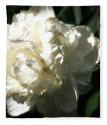 White Peony In Spring Fleece Blanket