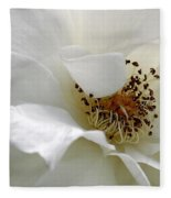 White Petals Fleece Blanket