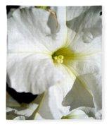 White Petunia Fleece Blanket