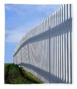 White Picket Fence Fleece Blanket