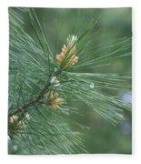 White Pine Flower N Spittle Bug Fleece Blanket