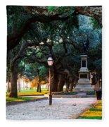 White Point Garden Walkway Charleston Sc Fleece Blanket