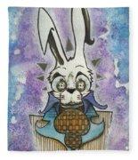 White Rabbit Fleece Blanket