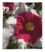 White-red Petunia Fleece Blanket