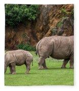 White Rhino 11 Fleece Blanket