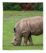 White Rhino 12 Fleece Blanket