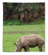 White Rhino 14 Fleece Blanket