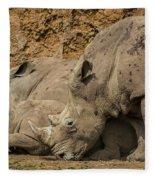 White Rhino 2 Fleece Blanket