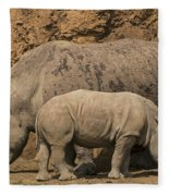 White Rhino 4 Fleece Blanket