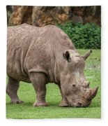White Rhino 5 Fleece Blanket