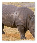 White Rhinoceros Fleece Blanket