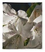 White Rhododendron B Fleece Blanket