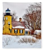 White River Winter Panoramic Fleece Blanket