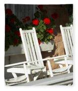 White Rockers Flower 21160 Fleece Blanket
