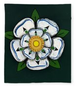 White Rose Of York Fleece Blanket