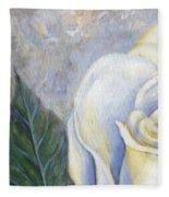 White Rose One Panel One Of Four Fleece Blanket