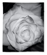 White Rose Passion Impression Fleece Blanket