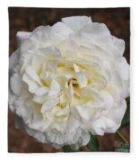 White Rose Square Fleece Blanket