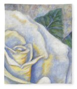 White Rose Two Panel Two Of Four Fleece Blanket