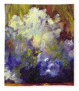 White Roses In Sunlight Fleece Blanket