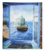 White Sails Fleece Blanket