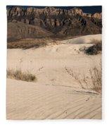 White Sand Below Fleece Blanket