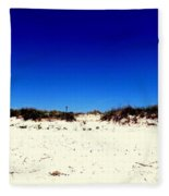 White Sand Blue Skies Fleece Blanket