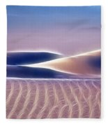 White Sands Abstract Fleece Blanket