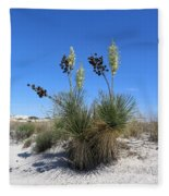 White Sands Dune With Soap Yucca Fleece Blanket