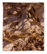 White Sands Lizard Fleece Blanket