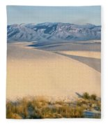White Sands Morning #1 - New Mexico Fleece Blanket