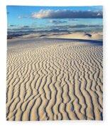 White Sands Of New Mexico Fleece Blanket
