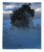 White Sands Turns Blue Fleece Blanket