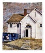 White School 1929 - Lawrence Kansas Fleece Blanket