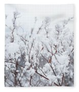 White Silence Fleece Blanket