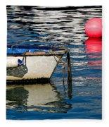 White Skiff - Lyme Regis Harbour Fleece Blanket