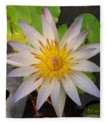 White Star Lotus Fleece Blanket