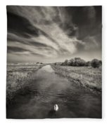 White Swan Fleece Blanket