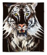 White Tiger 1 Fleece Blanket