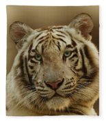 White Tiger II Fleece Blanket