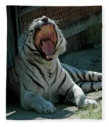 White Tiger Reno Nv 3 Fleece Blanket