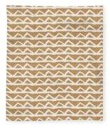 White Triangles On Burlap Fleece Blanket