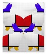 White Watch Fleece Blanket