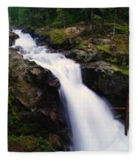 White Water Falling  Fleece Blanket