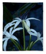 White Water Flower Fleece Blanket