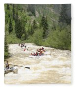 Animas River White Water Rafting The  Fleece Blanket