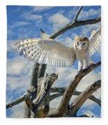 White Wide Wings Fleece Blanket