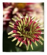 White Zinnia Fleece Blanket