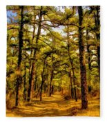 Whitebog Village Woods In New Jersey  Fleece Blanket